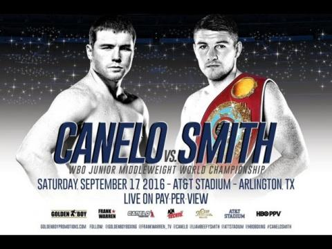 Saul Canelo Alvarez vs Liam Smith Fight Promo & Highlights !! Golden Boy Promotions HBO Boxing PPV