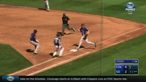 COL@SD: Paulsen grabs sharply hit ball to record out