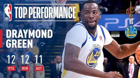 Draymond Green Notches Triple Double vs The Cavs On Christmas Day!