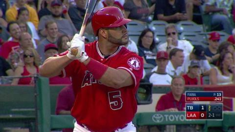 TB@LAA: Pujols belts a solo home run to center field