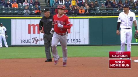 LAA@DET: Calhoun hits solo home run in the 1st