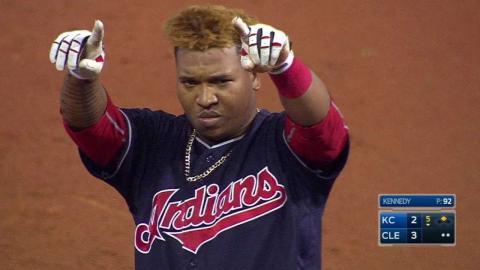 KC@CLE: Ramirez's double puts Indians back on top