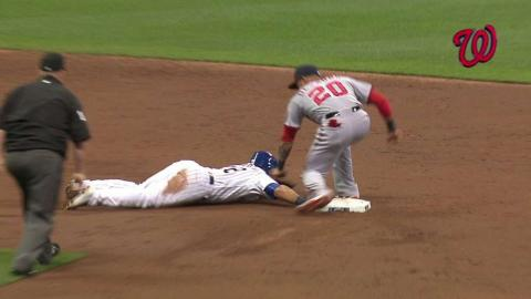 WSH@MIL: Zimmermann throws out Parra at second base