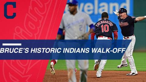 Bruce walks off Indians for their 22nd straight win