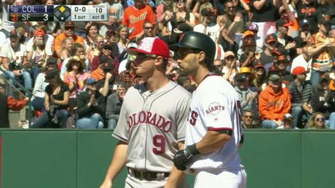 COL@SF: Pagan's high fly ball is lost in the sun
