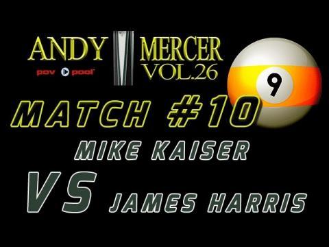 #10 • 2016 Mercer 9-Ball • Mike KAISER vs James HARRIS