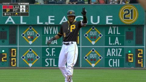 LAA@PIT: Marte notches three hits, a steal in the win