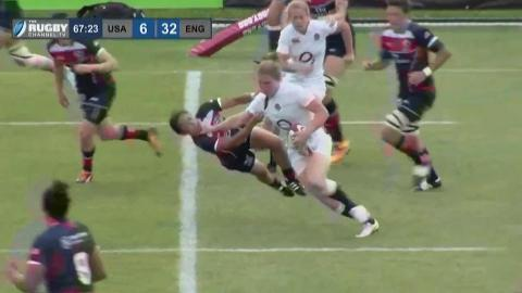 Pace and Power from England's Thompson  Women's Rugby Super Series