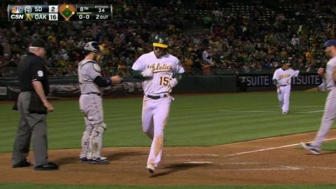 SD@OAK: Sogard's RBI single extends A's lead