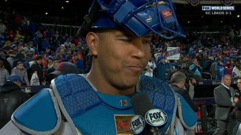 WS2015 Gm4: Perez discusses the Royals' rally in 8th