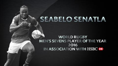 Seabelo Senatla wins Men's Sevens Player of the Year | World Rugby Awards 2016