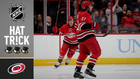 Canes D-man Justin Faulk pots rare natural hatty