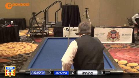 "2 • Jim SHOVAK vs Raye RASKIN • 2017 USBA / Gabriels 3 Cushion ""B"""
