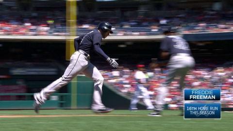 ATL@WSH: Freeman evens the score with three-run homer