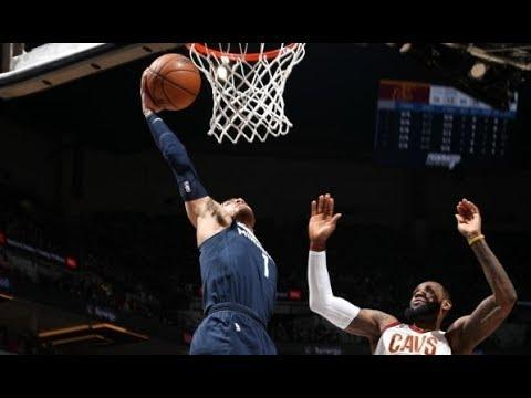 LeBron James Blocks Tyus Jones, Who Follows With Big Dunk | January 8, 2018