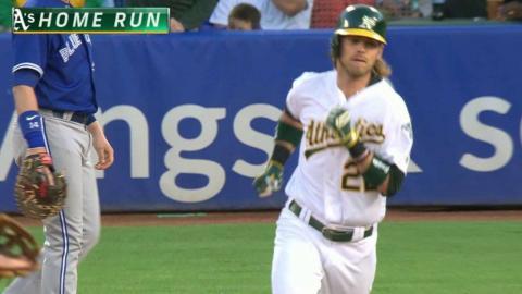TOR@OAK: Reddick launches a solo home run to center