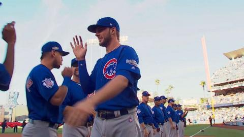 NLCS Gm3: Maddon, Cubs starters get introduced