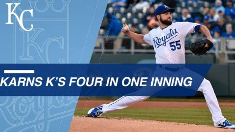 Nate Karns earns rare feat, fans four in the 6th