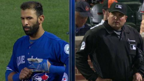 TOR@BAL: Bautista has staring contest with the umpire