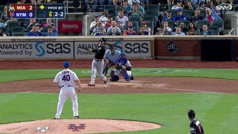 MIA@NYM: Colon fans Yelich in the top of the 6th