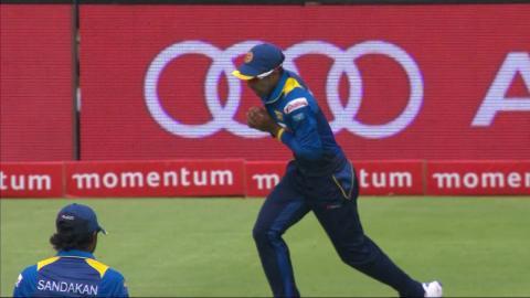 South Africa vs Sri Lanka - 4th ODI - JP Duminy Wicket