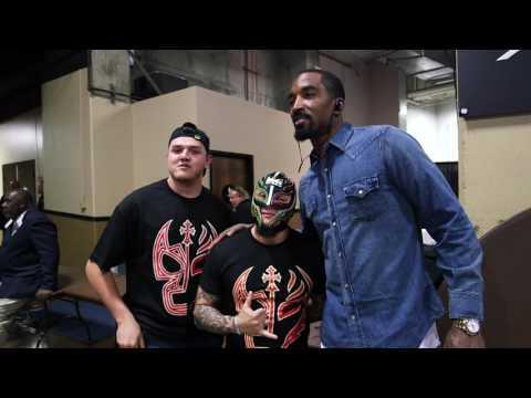 Rey Mysterio Jr At The NBA Finals!