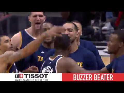 Tissot Buzzer Beater: Joe Johnson Wins Game 1 for the Jazz!   April 15, 2017