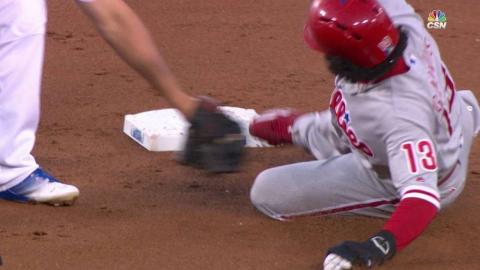 PHI@LAD: Galvis ruled safe at second after review