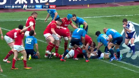 Webb comes within inches of scoring a try after great break! | RBS 6 Nations