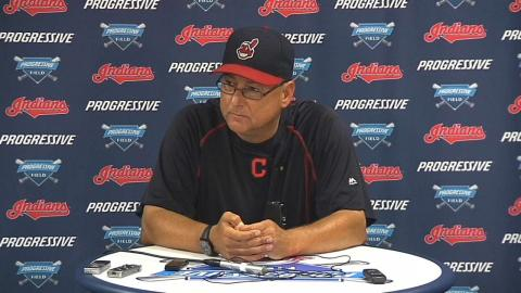 LAA@CLE: Francona discusses 5-1 win over Angels