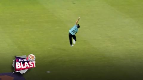UNREAL catch by Aaron Finch but Gloucestershire beat Surrey