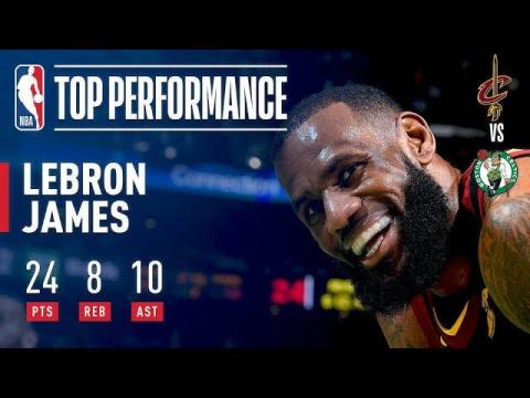 LeBron James Leads New Look Cavs To Victory Over Boston!