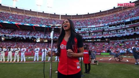 2015 ASG: Ciara sings the national anthem