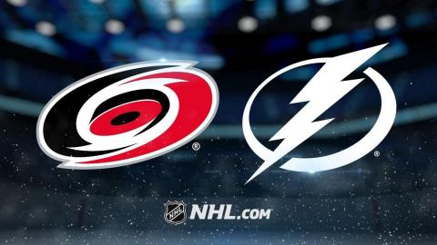 Johnson's hat trick leads Bolts past Hurricanes, 5-4