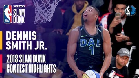 Dennis Smith, Jr. ALL DUNKS from 2018 Verizon Slam Dunk Contest