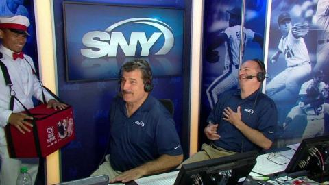 KC@NYM: Ice cream man joins the Mets booth