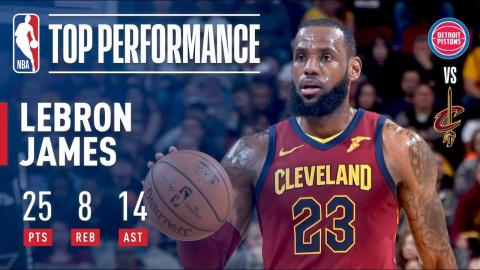 LeBron James Shows Out With 25 Pts and 14 Ast | January 28, 2018