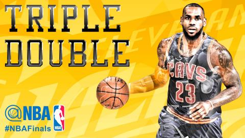 LeBron James Tallies 2nd Triple-Double of 2015 Finals