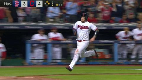 BOS@CLE Gm1: Kipnis lines an RBI single to pad lead