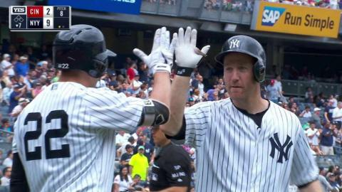 CIN@NYY: Todd Frazier hits first homer with Yankees
