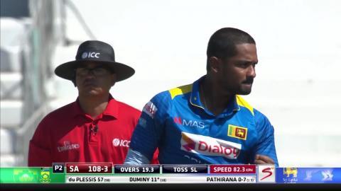 South Africa vs Sri Lanka - 2nd ODI - JP Duminy - Wicket