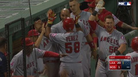 LAA@BOS: Angels pound four homers in the 21-2 win