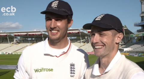 Close mates Chris Woakes and Steven Finn reflect on a special afternoon