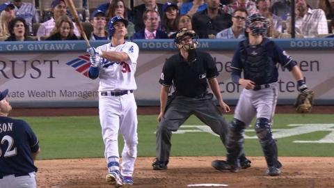 MIL@LAD: Pederson hammers RBI double off the wall