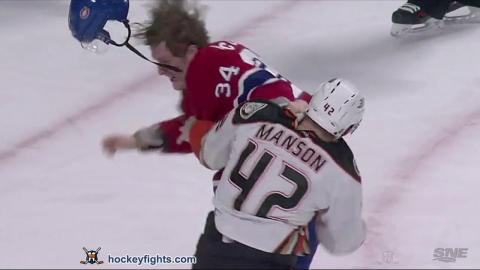 Josh Manson vs Michael McCarron Mar 22, 2016