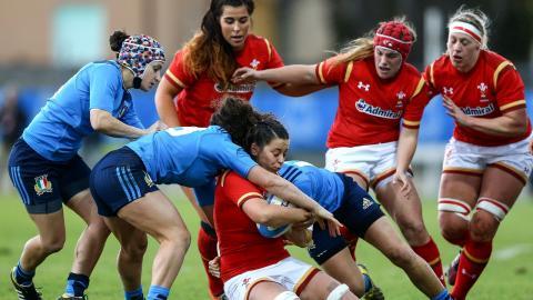 Match 2: Italy Women 8-20 Wales Women