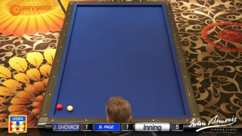"#18 • Jim SHOVACK vs Bob PAGE • USBA / Gabriel's 3 Cushion ""B"""