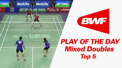 Mixed Doubles - Top 5 | Play Of The Day | Badminton