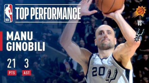 Manu Ginobili Turns Back The Clock vs The Suns