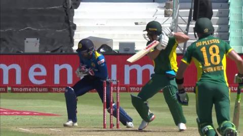 South Africa vs Sri Lanka - 2nd ODI - AB de Villiers - Wicket